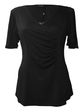Robin Plus Size Jersey Top in Black