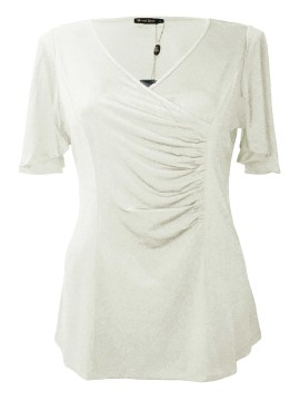 Robin Plus Size Jersey Top in Cream