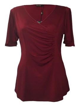 Robin Plus Size Jersey Top in Red