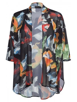 Jackie Chiffon Waterfall Jacket in Carnival