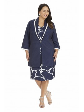 Sateen Jacket in Navy