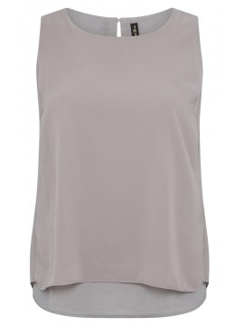 Jackie Chiffon Overlay Camisole in Grey