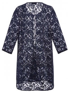 Jackie Straight Jacket in Navy Lace