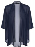 Jackie Chiffon Waterfall Jacket in Navy