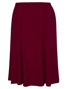 Robin Plus Size A Line Skirt in Deep Red