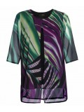 Ladies Plus Size Special Occasion Chiffon Camisole and Jacket in Abstract Print