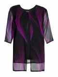 Ladies Plus Size Special Occasion Chiffon Camisole and Jacket in Aurora Print