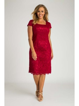 Special Occasion Lace Dress in Red