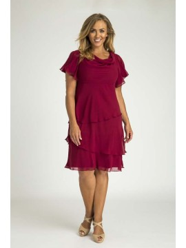 Ladies Special Occasion Chiffon Teired Dress