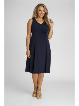 Robin Plus Size Jersey Dress in Navy