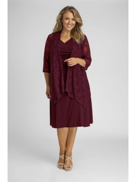 Robin Plus Size Jersey Dress in Burgundy