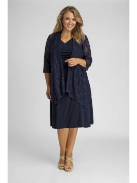 Robin Plus Size Lace Jacket in Navy