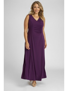 Robin Maxi Plus Size Jersey Dress in Purple