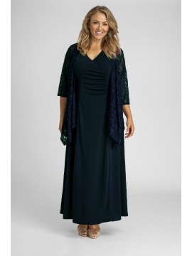Robin Maxi Plus Size Jersey Dress in Navy