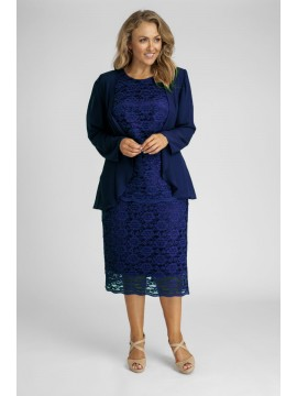 All Star Special Ladies Plus Size Special Occasion 3 Piece Set in Navy