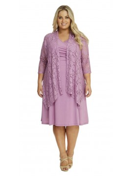Robin Plus Size Lace Jacket in Lilac