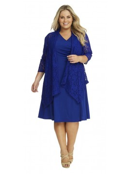Robin Plus Size Lace Jacket in Royal Blue