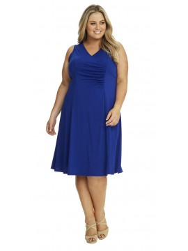 Robin Plus Size Jersey Dress in Royal Blue