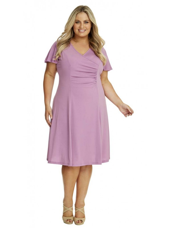 ac7d2f17ea Robin Plus Size Jersey Dress with Sleeve in Lilac