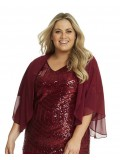 Chiffon Shrug in Red