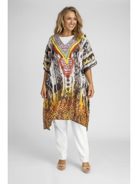 Knee Length Kaftan in Africa Print (100cm long)