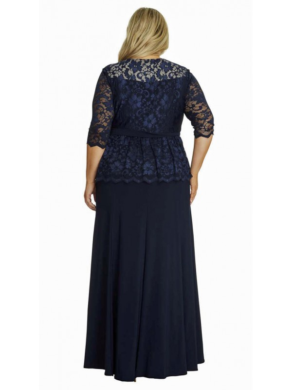 ed9353b0243d1 ... All Star Special Peplum Lace and Jersey Gown in Black ...