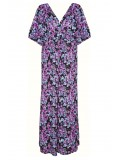 All Star Special Kimono Sleeve Plus Size Maxi Dress in Blossom