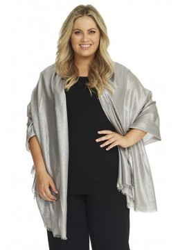 Metallic Coloured Shawls in Silver or Gold