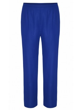 Ladies Plus Size Special Occasion Chiffon Wide Leg Pant in Blue