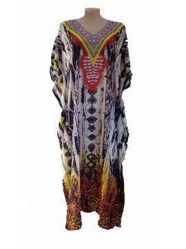 Long Kaftan in Africa Print (140cm long)