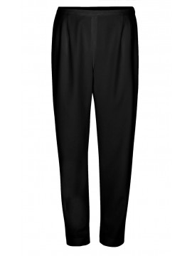 Ladies Plus Size Tailored Straight Leg Pant in Black