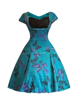 Vintage Sybil Dress in Butterfly
