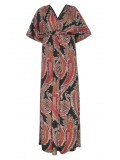 All Star Special Kimono Sleeve Maxi Dress in Paisley