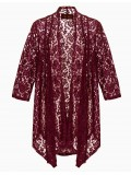 Robin Plus Size Lace Jacket in Burgundy