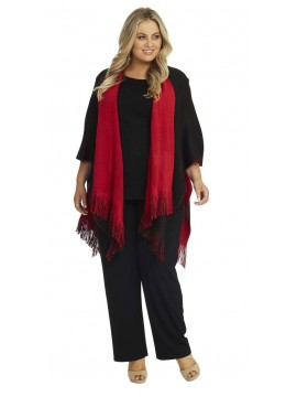 Reversible Wrap in Black and Red