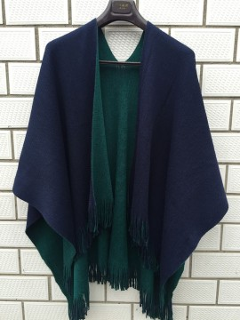Reversible Wrap in Green and Navy