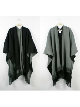 Reversible Wrap in Grey and Black