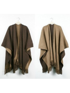 Reversible Wrap in Brown and Beige