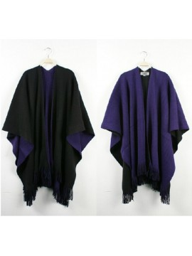 Reversible Wrap in Black and Purple