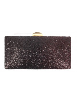 Glitter Two Tone Clutch Evneing Bag in Red Black
