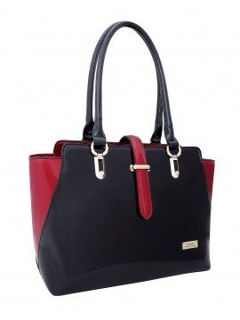 Serenade Matrix Patent Leather Handbag