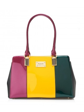 Serenade Stripe Patent Leather Handbag