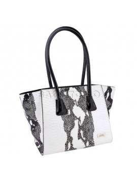 Serenade Snake Skin Pattern Leather Handbag