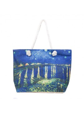 Masterpiece Water Scene Tote Bag
