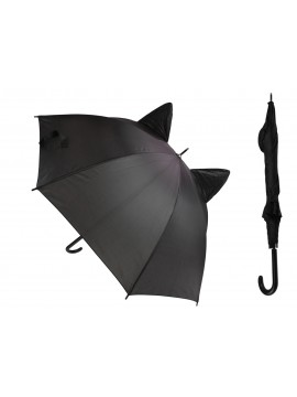 Mystical Black Cat Umbrella with Ears on Top