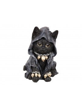 Gothic Cat with Skull Necklace
