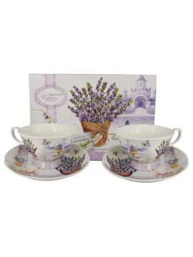 Boxed Tea Cup Set in Lavender