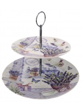 Boxed 2 Layer Cake Plate in Lavender