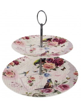 Boxed 2 Layer Cake Plate in Floral