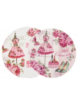 Boxed Side Plates Set of 6 in Pink
